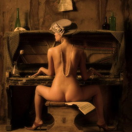 Theaterofcrueltynoh Assakra Artwork PIANO PLAER, 2003 Color Photograph, Nudes