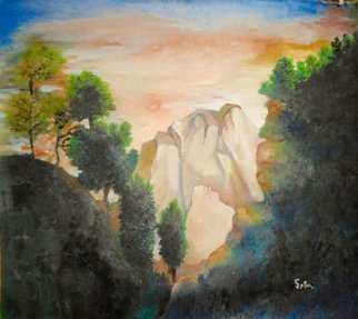 Robert Solari: 'dakota hills', 2018 Oil Painting, nature. Artist Description: This painting illustrates the . splendor and majesty the Black Hills of South Dakota. ...