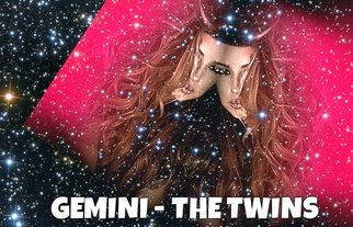 Alisha Bluez: 'Digital Gemini Twins', 2015 Digital Art, Astronomy. Artist Description:  By sherry from www. astrologyjunction. com Digital art for astrology gemini ...