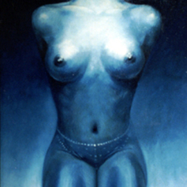 Andreasz Szanto Artwork METALIZAT, 2002 Oil Painting, Nudes