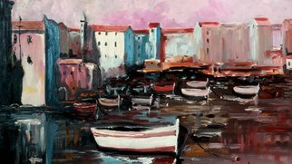Artist: Rok Lekaj - Title: Mediterranean Port - Medium: Oil Painting - Year: 2011