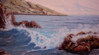 Artist: Rok Lekaj - Title: Mediterranean wave - Medium: Oil Painting - Year: 2011