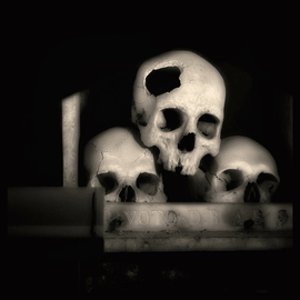 Augusto De Luca Artwork skull 1 - by augusto de luca, 2017 Black and White Photograph, Death