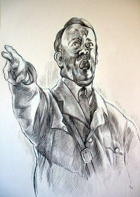 Austen Pinkerton: 'Adolf', 2007 Other Drawing, Famous People.