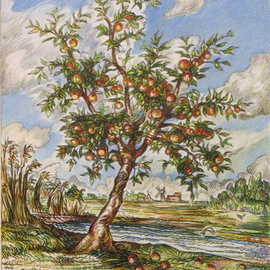 Apple Tree By Stream, Austen Pinkerton