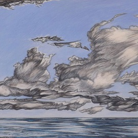 Austen Pinkerton Artwork CLOUDS AT AMROTH, 2015 Acrylic Painting, Clouds