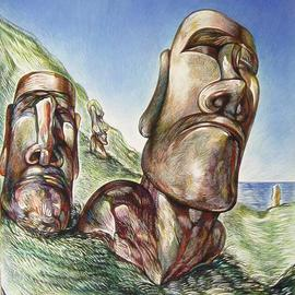 Easter Island No 2   By Austen Pinkerton