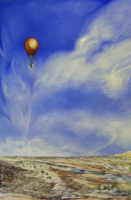 Austen Pinkerton  'Hot Air Balloon', created in 2008, Original Painting Ink.
