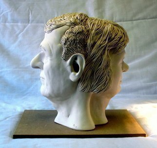 Austen Pinkerton: 'JANUS', 2012 Ceramic Sculpture, Portrait.     SCULPTURE PORTRAIT ...