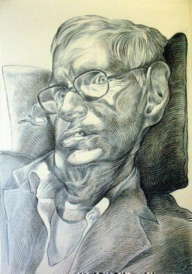 Austen Pinkerton: 'Professor Stephen Hawking', 2008 Other Drawing, Famous People.   290. 0 ...