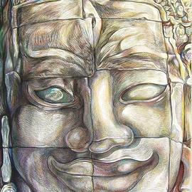 Smiling Enigmatic face of Bayon  By Austen Pinkerton