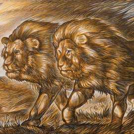 TWO LIONS  By Austen Pinkerton