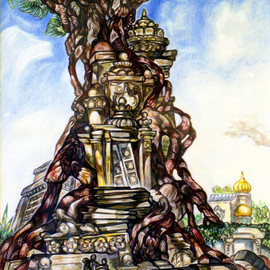 Tree and Temple