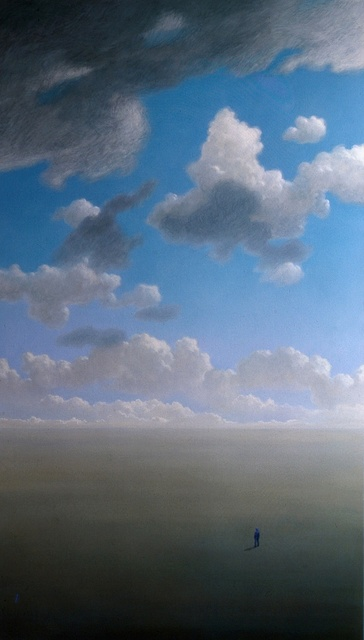 Austen Pinkerton  'Clouds', created in 1976, Original Painting Ink.