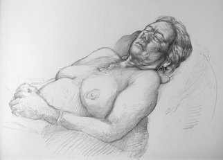 Austen Pinkerton: 'dorothy number four', 2019 Graphite Drawing, Life. portrait life drawing nude figure study...