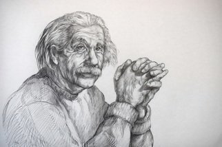Austen Pinkerton: 'einstein', 2019 Graphite Drawing, Portrait. Just finished. . . . Einstein , taken from one of the famous photos of him. ...