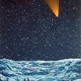 Austen Pinkerton Artwork the comet, 1979 Acrylic Painting, Landscape