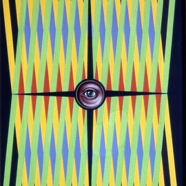 zig zag abstract with eye By Austen Pinkerton