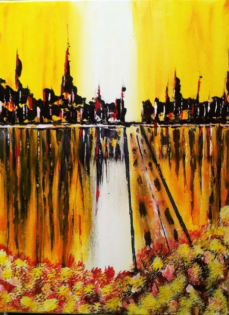 Larry Smith  'Madrid', created in 2013, Original Painting Acrylic.