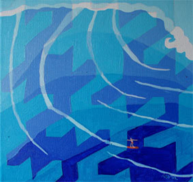 Aleksandra Vasovic  'Surf', created in 2009, Original Painting Acrylic.