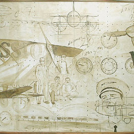Jose Cardoso: 'Aviation', 2001 Acrylic Painting, Aviation.