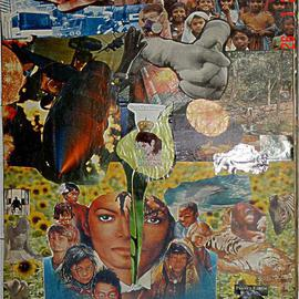 Avinash Shamdasani Artwork Heal The World, 2005 Collage, Figurative
