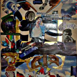 Avinash Shamdasani Artwork History  Michael Jackson, 2005 Collage, Figurative