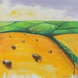 Avril Ward: 'In the country II', 2011 Other Painting, Landscape. Artist Description:   mixed media  ...