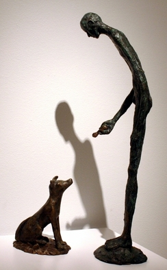 Bronze Sculpture by Avril Ward titled: Knick Knack Paddy Whack, created in 2010