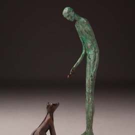 Avril Ward Artwork Knick Knack Paddy Whack, 2013 Bronze Sculpture, Figurative