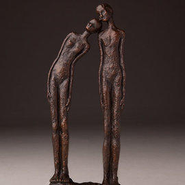 Avril Ward Artwork LEAN ON ME, 2015 Bronze Sculpture, Figurative