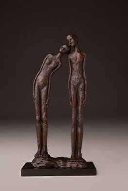 Avril Ward: 'LEAN ON ME', 2015 Bronze Sculpture, Figurative. Limited edition bronze...