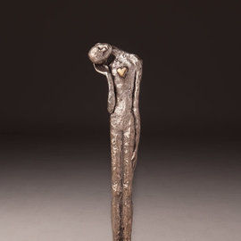 Avril Ward Artwork Listen to your heart, 2014 Bronze Sculpture, Figurative