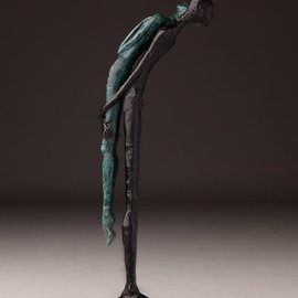 Avril Ward Artwork brothers keeper, 2014 Bronze Sculpture, Figurative