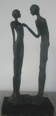 Bronze Sculpture by Avril Ward titled: heart strings, 2014