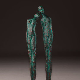 Avril Ward Artwork love secret, 2013 Bronze Sculpture, Figurative