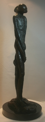 Bronze Sculpture by Avril Ward titled: wrapped around you, 2011