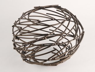Andrea Waxman Mulcahy: 'Bronze Ring Nebula', 2010 Steel Sculpture, undecided.