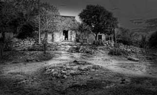 Andrew Xenios: 'Casa Maya', 2012 Black and White Photograph, Representational. Artist Description:   A typical Mayan' chozo' or house made of paja, stones and mud.  ...
