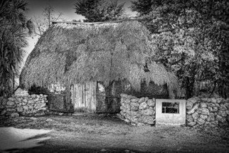 Andrew Xenios: 'Casa de Lorenzo', 2012 Black and White Photograph, Representational. Artist Description:   A Mayan house called a 'chozo' built by Lorenzo 85 years ago.  Lorenzo is 100 years old and live alone in his home.   ...