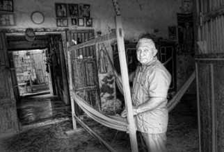Andrew Xenios: 'Hammock Maker', 2012 Black and White Photograph, Representational. Artist Description:     Inside the home of a hammock maker, Juan, in the pueblo called Ochil about an hour from the capital city of Merida, Yucatan, Mexico.  ...