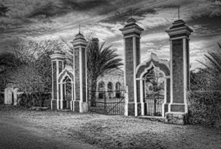 Andrew Xenios: 'La Hacienda Sabacchen', 2012 Black and White Photograph, Representational. Artist Description:  This is the entry way of a beautiful hacienda in Sabacchen on the road to Ochil, Yucatan, Mexico. ...