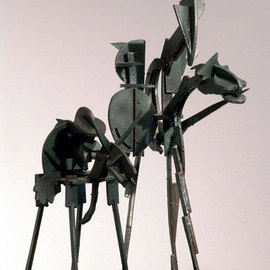 Aykut Oz: 'Don Quijote', 2004 Wood Sculpture, Figurative.