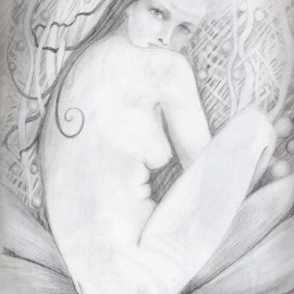 Aylas Art: 'pearly', 2009 Pencil Drawing, Mystical.