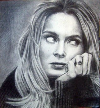 Pencil Drawing by Ayman Mahmoud titled: Natassia Kinski, created in 2006