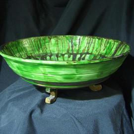 Aymen Azzam Artwork Bowl, 2004 Wheel Ceramics,