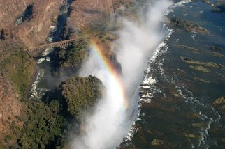 Alessandro Zanazzo: 'flying over human s passions', 2007 Digital Photograph, Nature. Artist Description: Aerial photography. Victoria Falls. Africa. Nature. Water falls.An Artist should be able to search the ethernity in the subjects he she photographs, becomingone, the same thing with his her subject, one soul with the subject, i nthe infinite mistery of an instant. ...