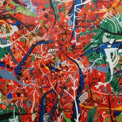 , Virgin Jungle Series 7, Abstract Landscape, $2,940