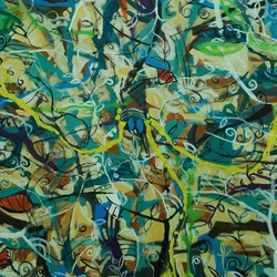 , Virgin Jungle Series 4, Abstract Landscape, Sold