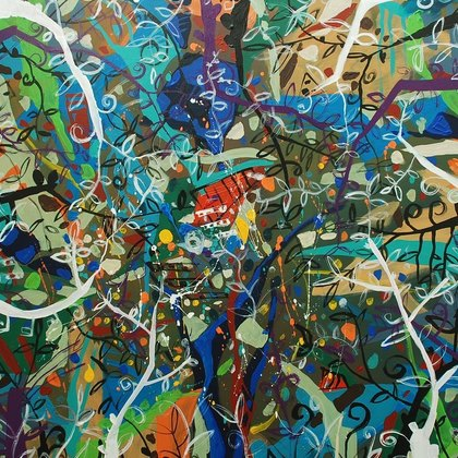 , Virgin Jungle Series 6, Abstract Landscape, $2,940
